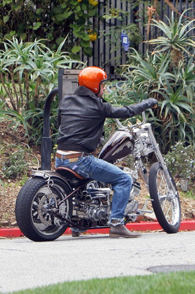 Brad Pitt motorcycling in Prps