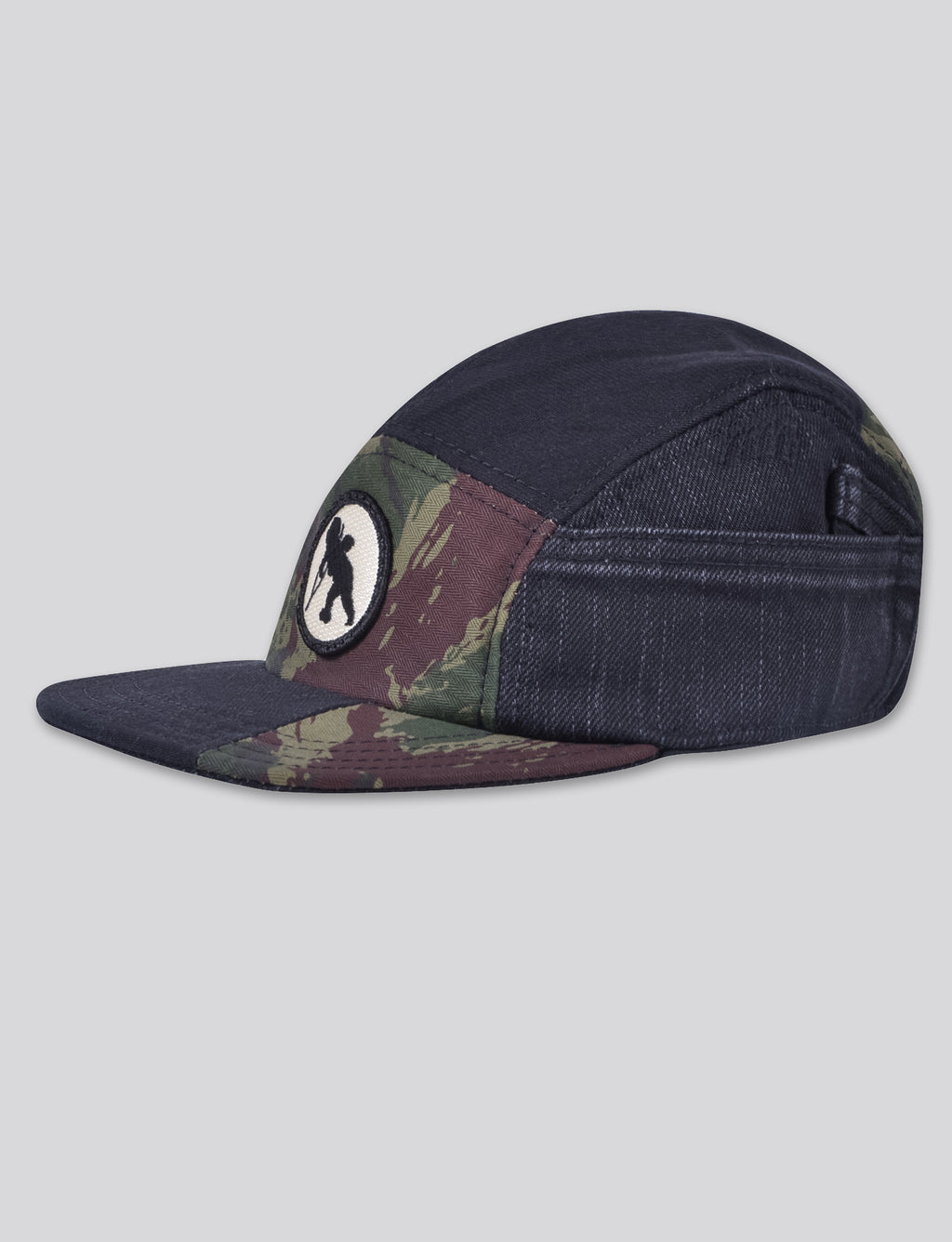 Prps - #2 Black Denim/Camo 5 Panel Hat - Hat - Prps