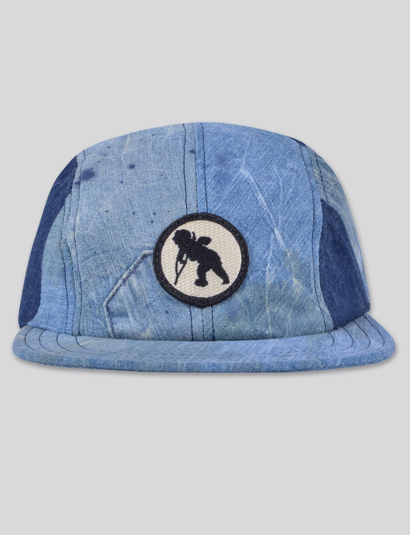 Prps - #5 Indigo Denim/Bleached Denim 4 Panel Hat - Hat - Prps
