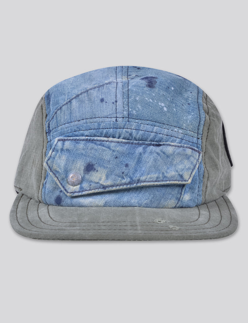 Prps - #9 Japanese Bleached Denim/Chino 5 Panel Hat - Hat - Prps