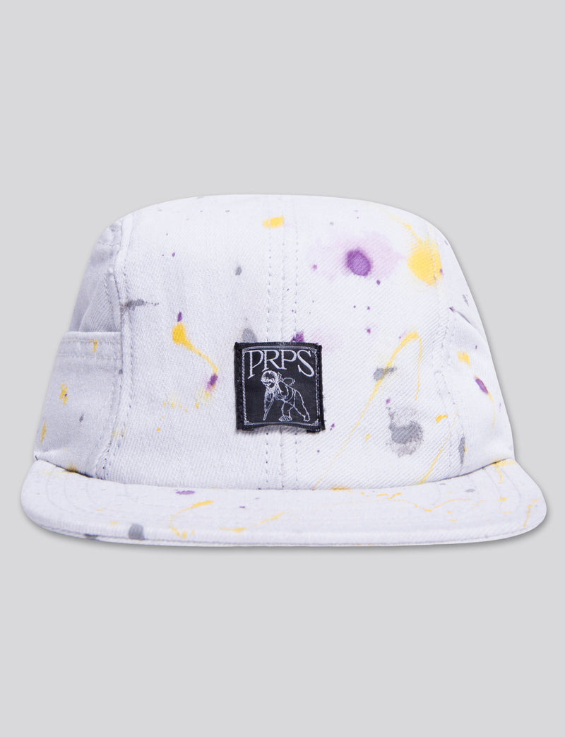 #13 White Denim 4 Panel Hat