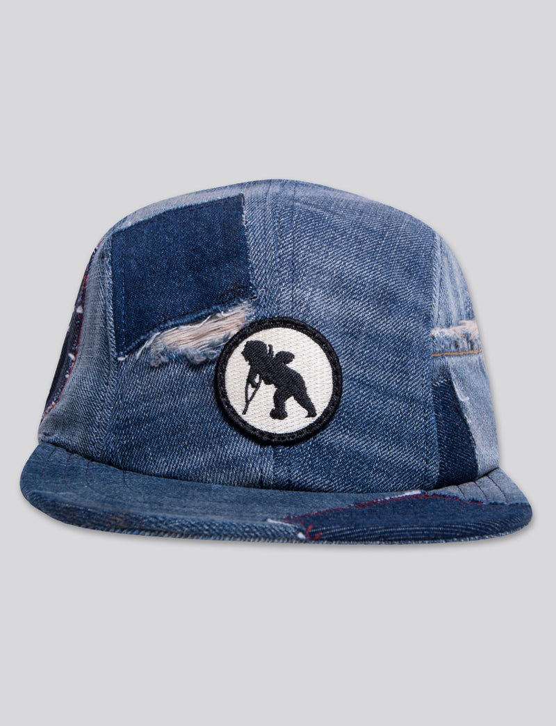 #14 Blue Denim 4 Panel Hat