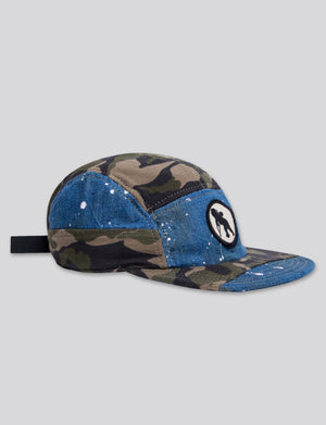 Prps - #15 Japanese Denim/Indigo/Camo 5 Panel Hat - Hat - Prps