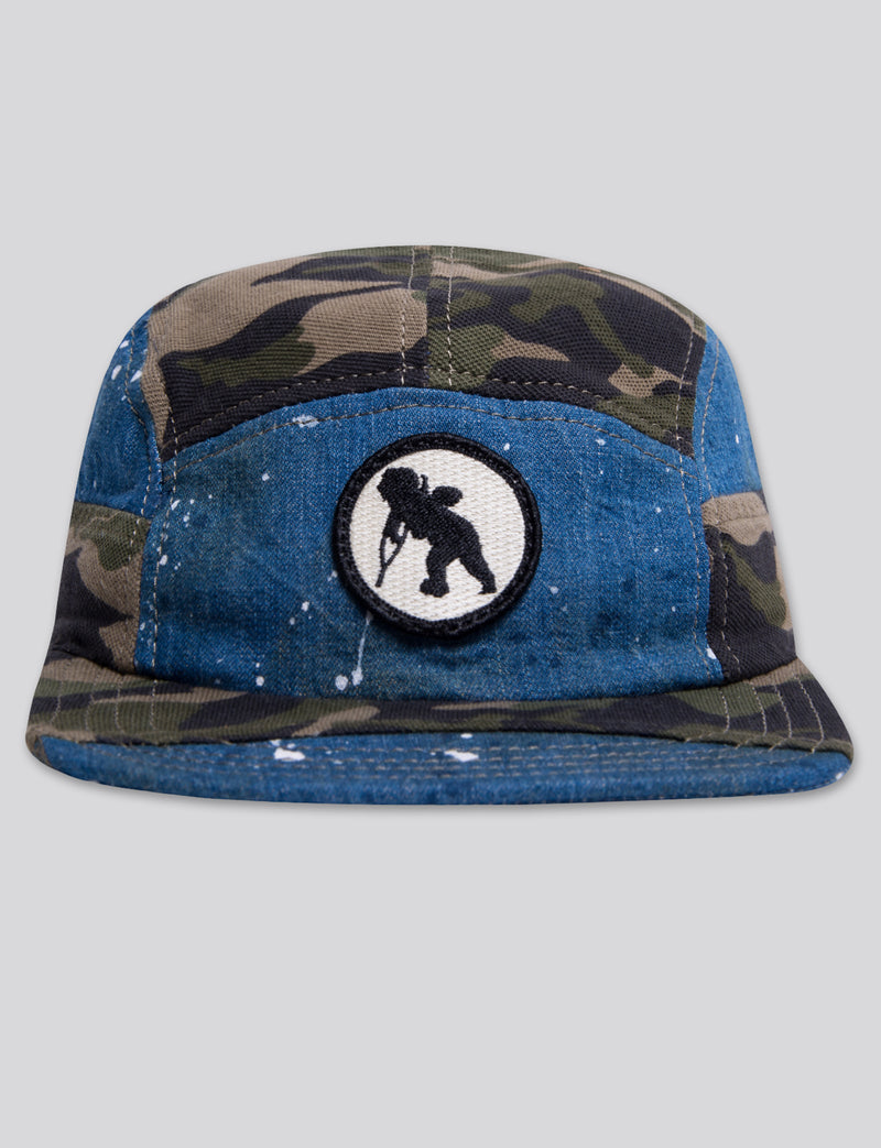 #15 Japanese Denim/Indigo/Camo 5 Panel Hat