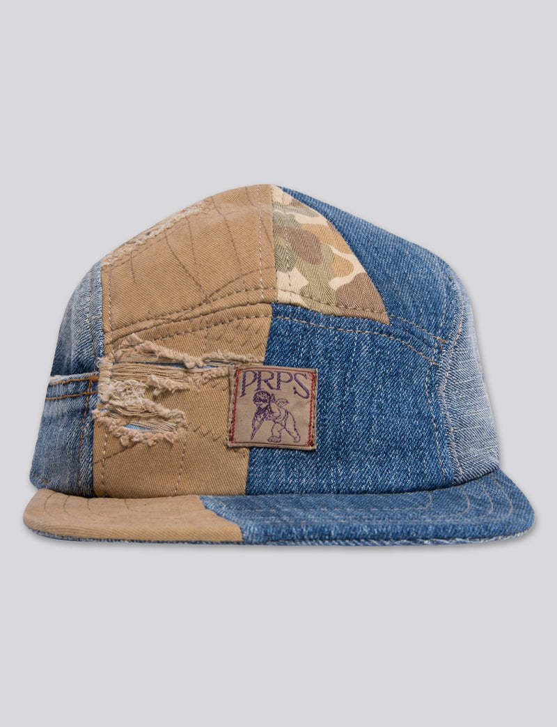 Prps - #16 Japanese Denim/Japanese Kahki/Indigo/Camo 5 Panel Hat - Hat - Prps