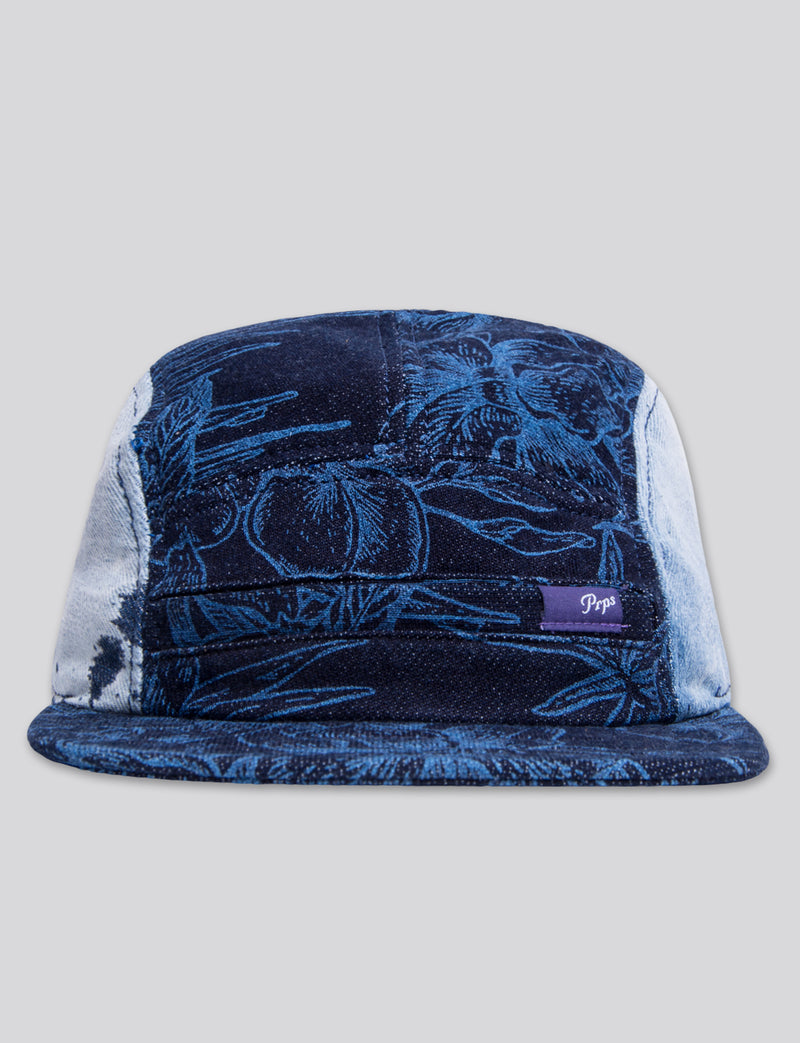 #17 Bleached Denim 5 Panel Hat