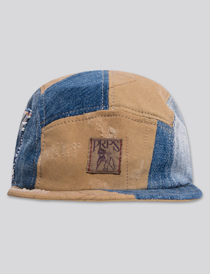 #19 Japanese khaki/Japanese Denim/Indigo 5 Panel Hat