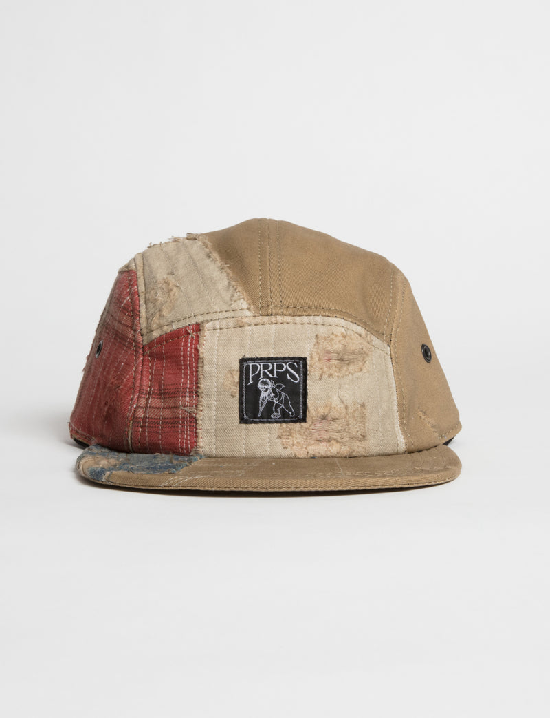 Prps - #25 Khaki Twill/Multi-Plaid Hat - Hat - Prps