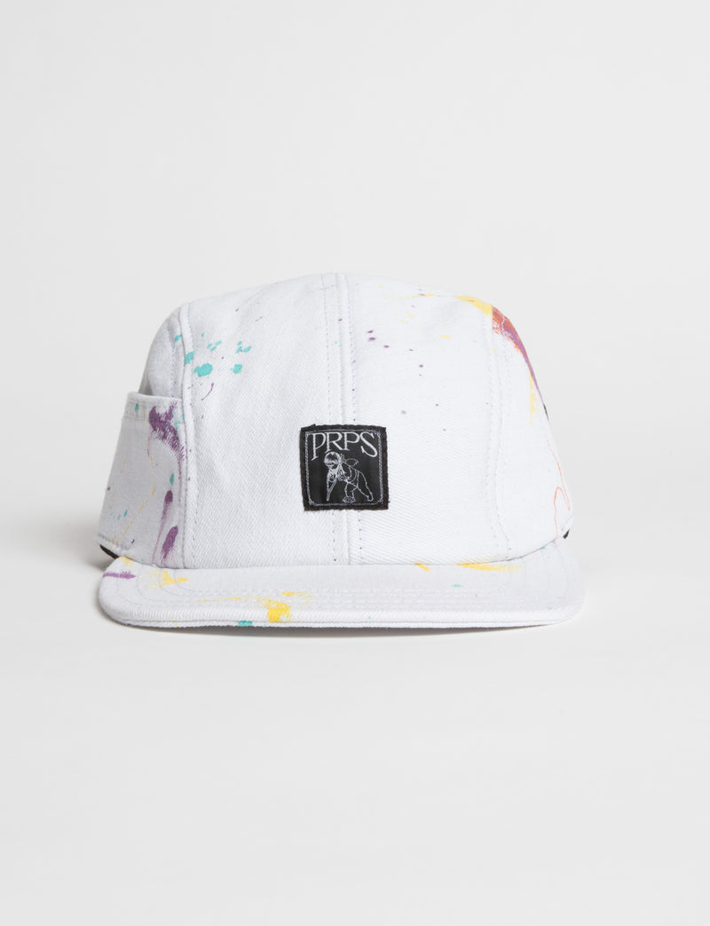 Prps - #30 White Painted Denim Hat - Hat - Prps