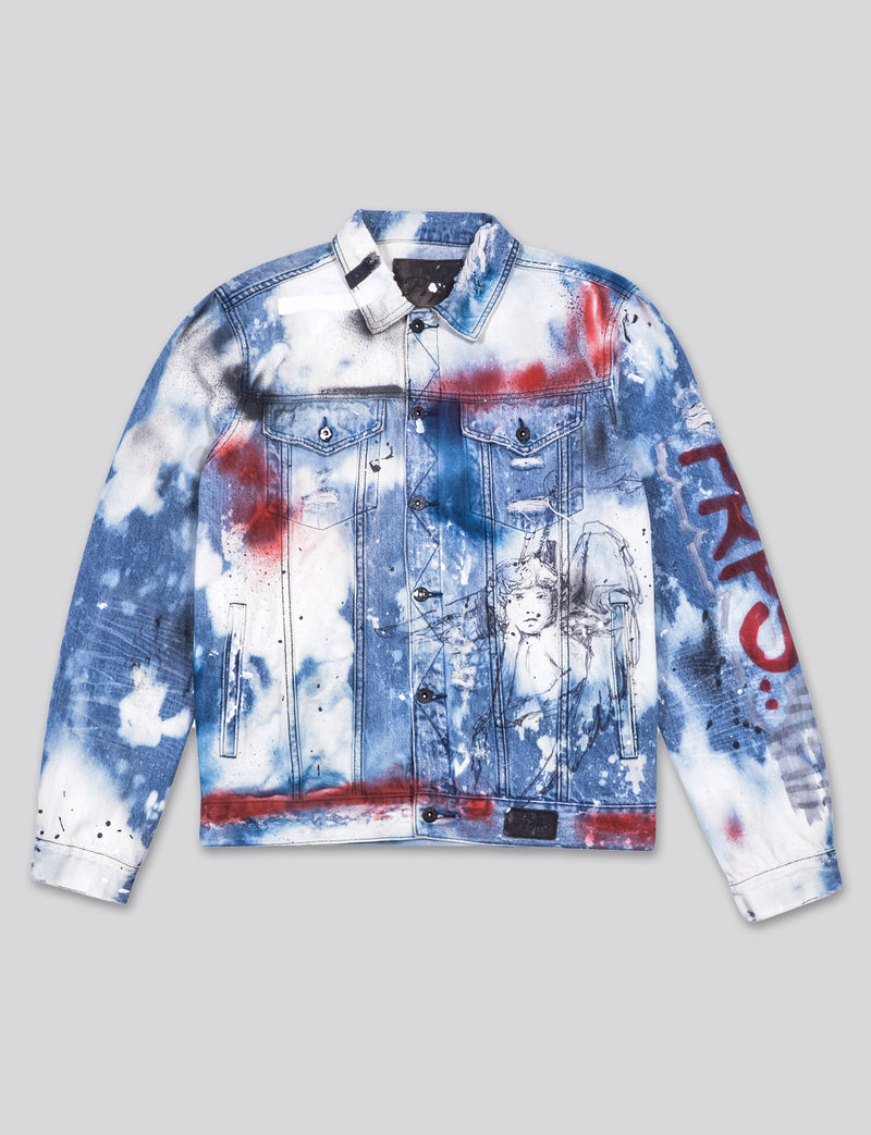 Prps - #2 Hand Painted Purpose Denim Jacket  - Jacket - Prps