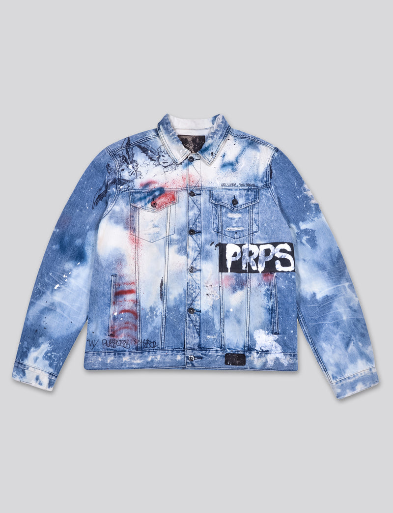 Prps - #3 Hand Painted 'Bruised, Never Broken' Denim Jacket - Jacket - Prps