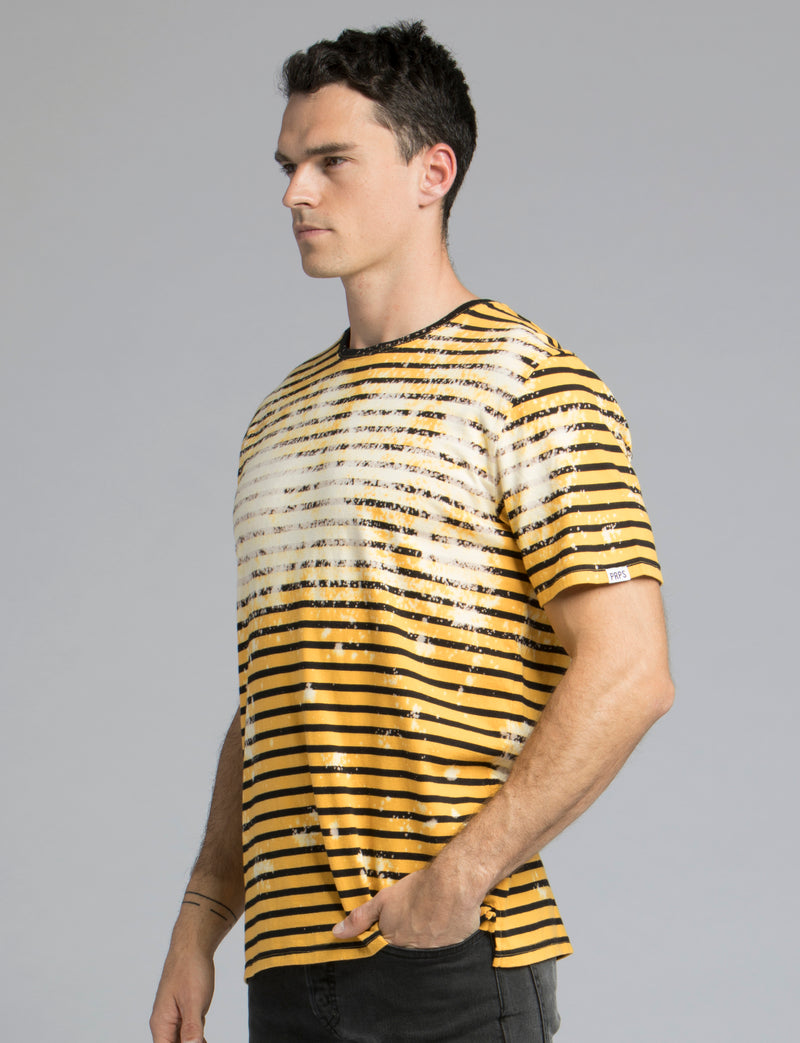 Prps - Striped Bleach Wash Tee - Tee - Prps