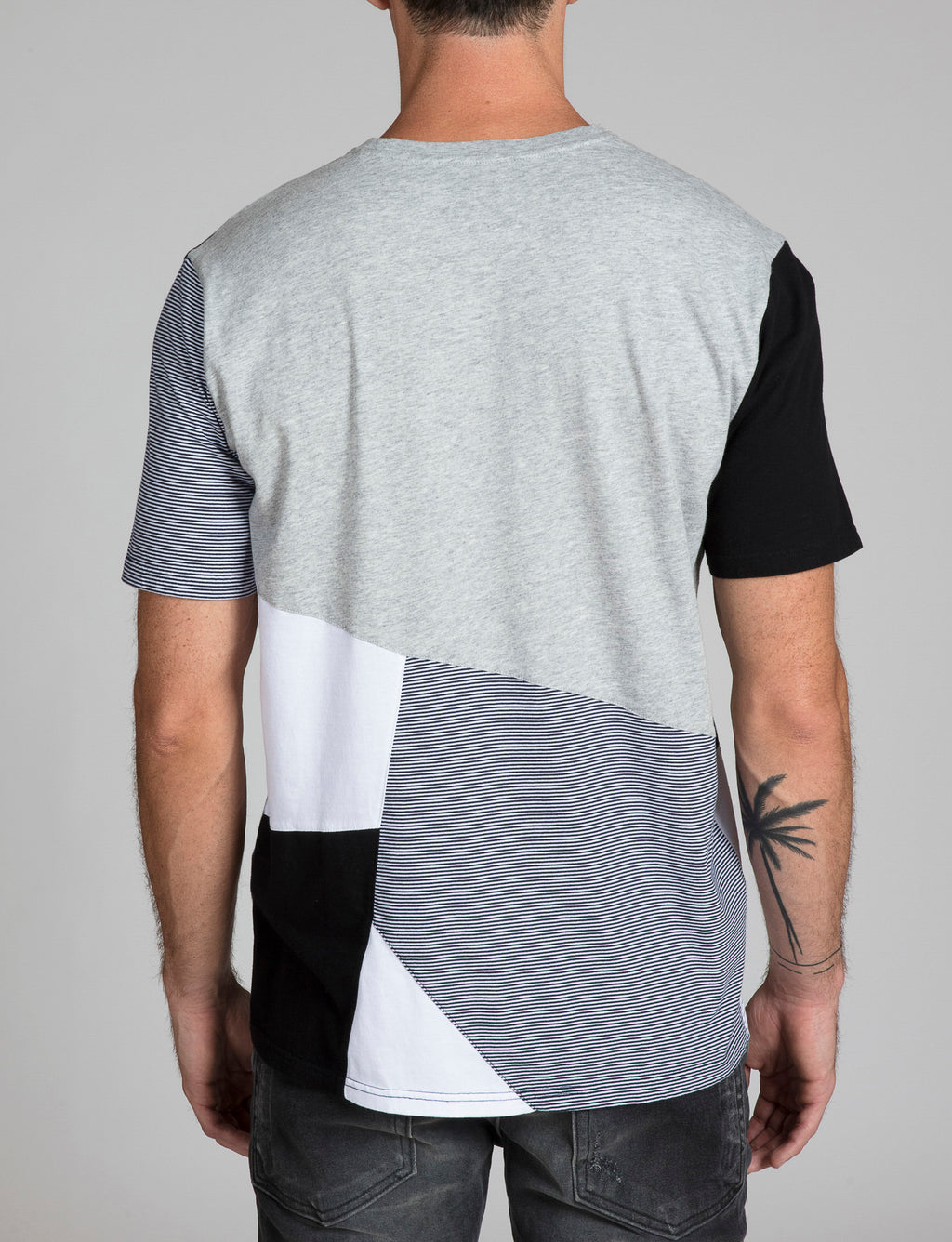Mixed Media Seamed Tee
