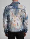 Paint Splatter Denim Jacket