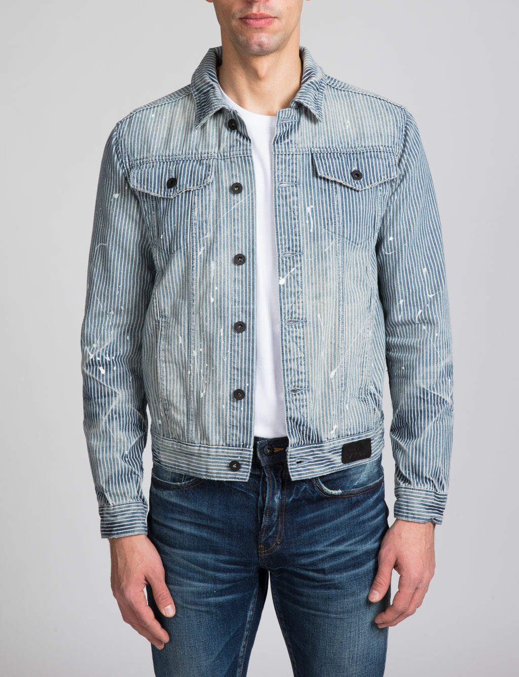 Hickory Stripe Denim Jacket