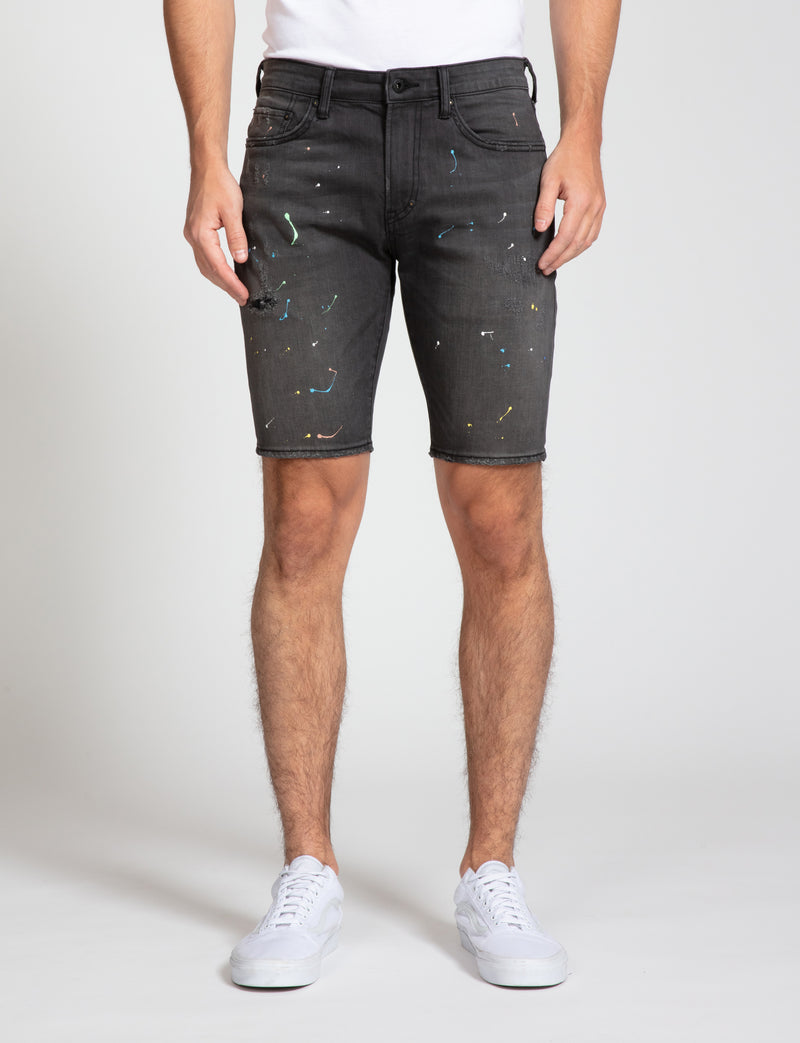 Prps - Paint Splatter Denim Shorts - Shorts - Prps