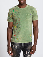 Green Paint Splatter Tee