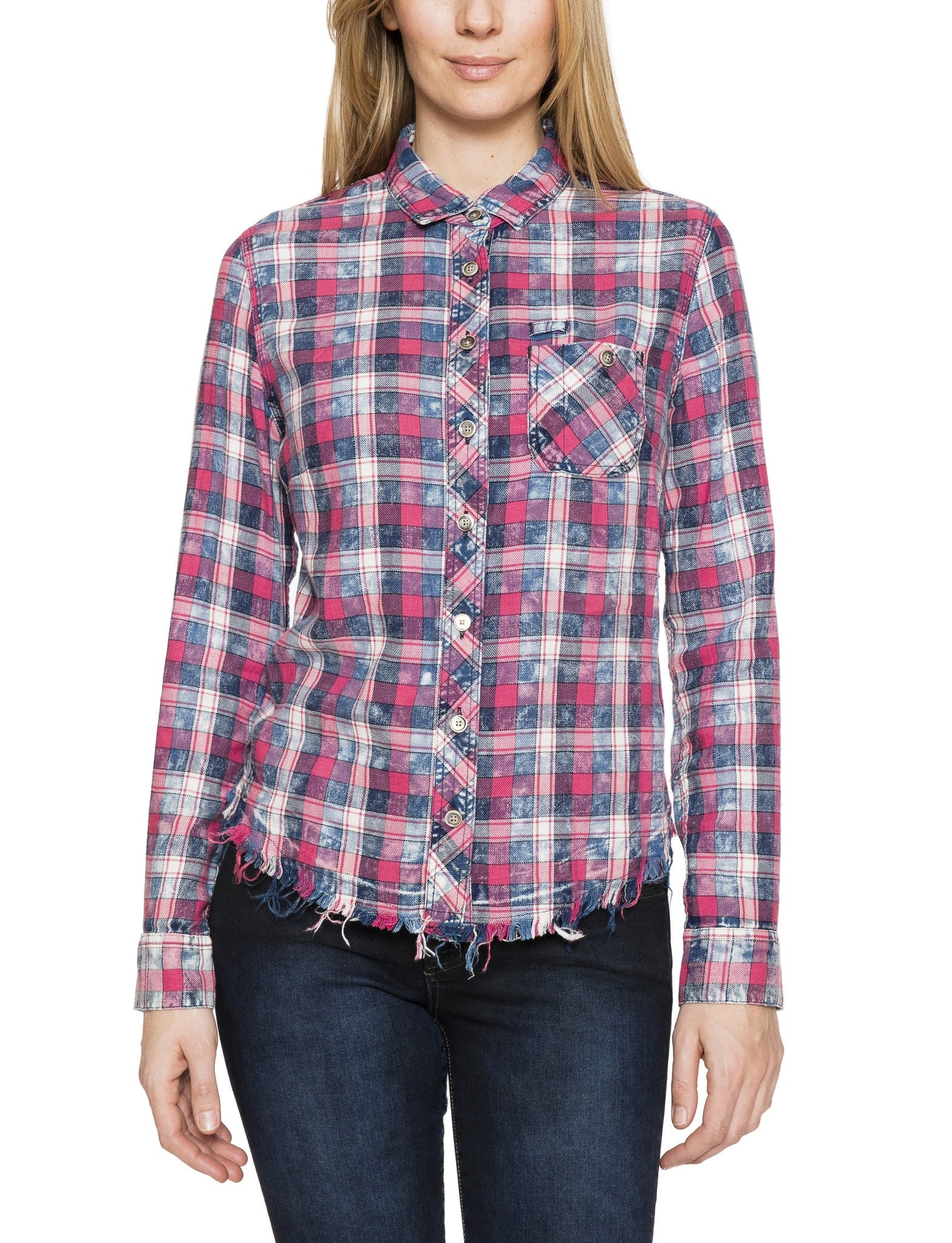 Fitted Plaid Shirt - Prps Women Fitted Plaid Shirt