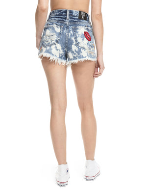 Prps - Acid Wash Boyfriend Short - Shorts - Prps