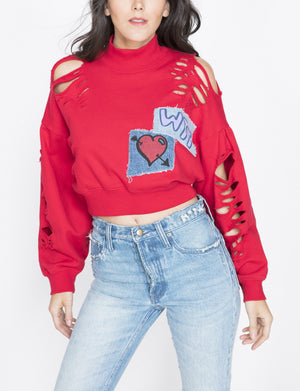 Prps | Mutilated Cropped Pullover - Pullover