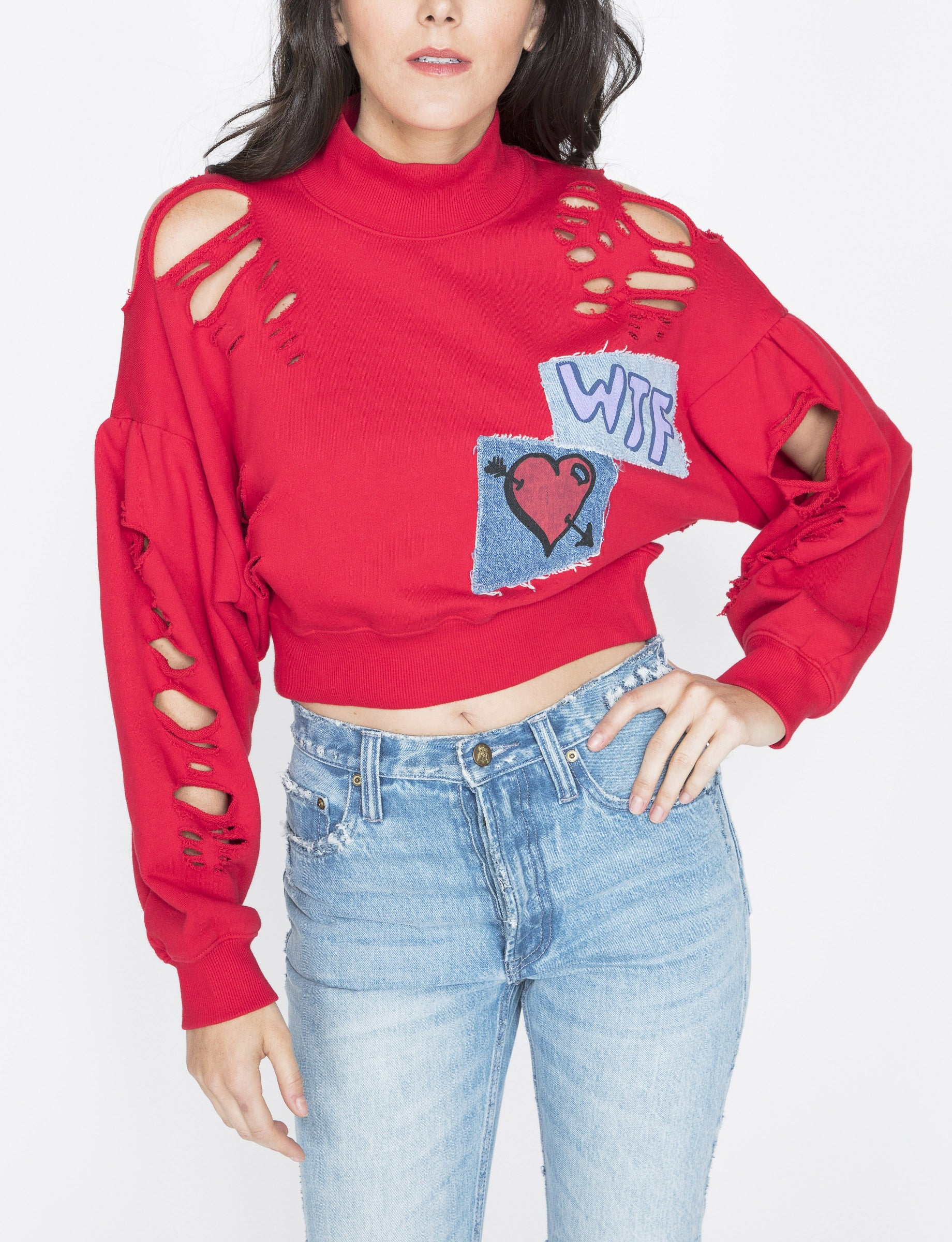 Mutilated Cropped Pullover