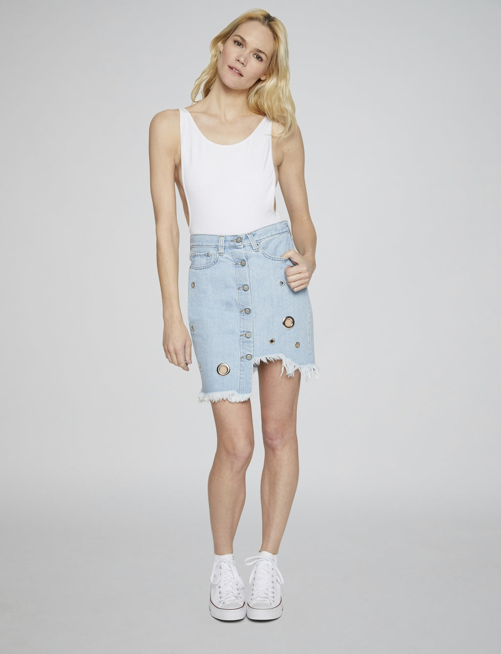 Prps - Raw Edge Jean Skirt - Skirts & Shorts - Prps