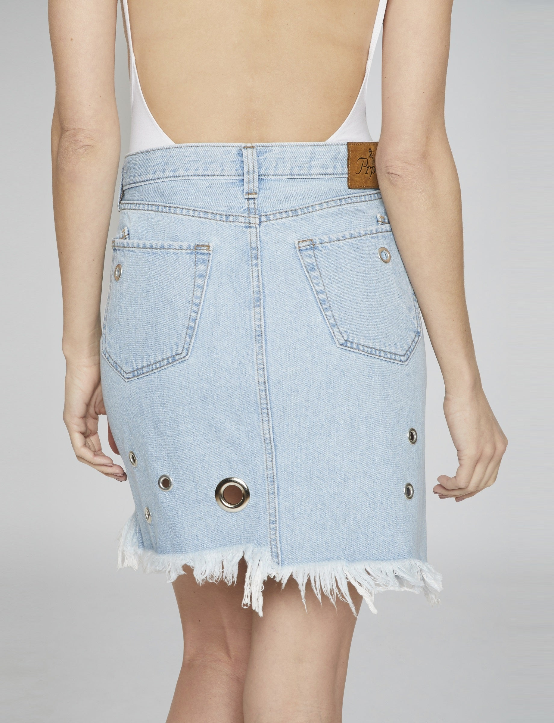 Raw Edge Jean Skirt