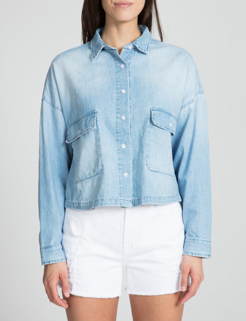 Prps - The Cropped BF Button Down - Shirt - Prps