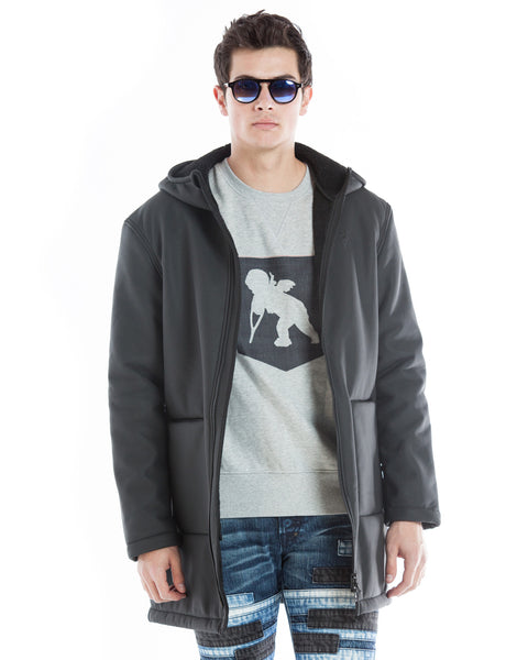 Zip Front Hooded Car Coat
