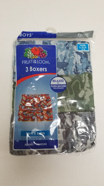 Boys Boxers 3-Pack Fruit of the Loom