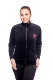 Beverly Hills Polo Club Women's Velour Track Jacket BHP-223