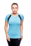 Beverly Hills Polo Club Women's Short-Sleeve Dry-Fit, Athletic Workout V-Neck Tee BHP-225V