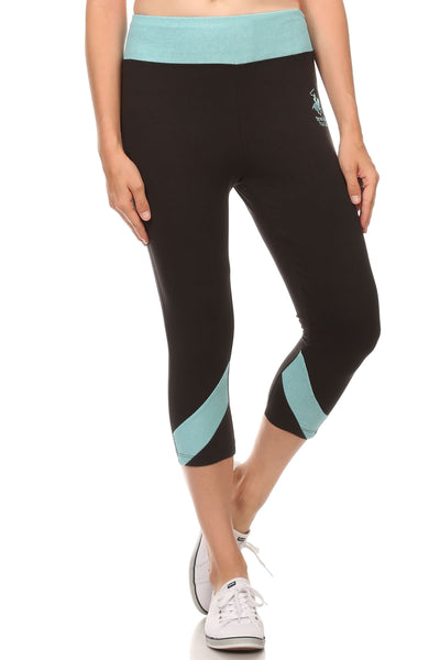 Beverly Hills Polo Club Women's Workout Capri Leggings BHP-821