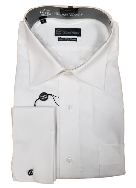 Bianco/Bianco Men's Dress Shirt Style - CL001