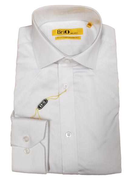 Brio Men's Fashion Designed Dress Shirt with Checkered Design