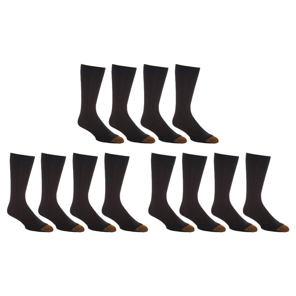 Mens Premium Cotton Trouser Socks (12 Pairs) Purim Special!
