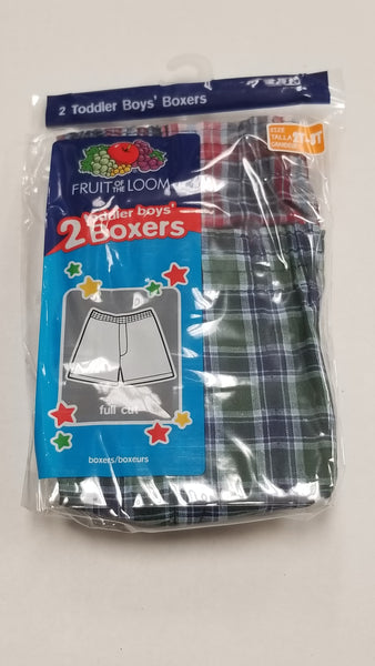 Fruit of the Loom Boys Boxer Shorts 2 Pack