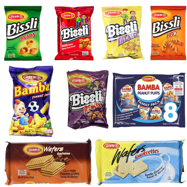 Osem Bamba Bissli Snacks Selection