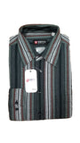 Men's Style Stripe Long Sleeve Button Down Dress Shirt - European Sizes