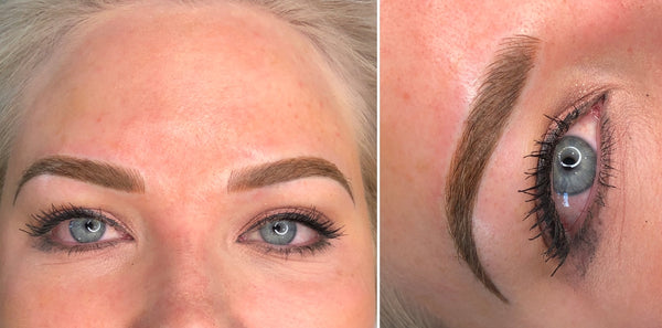 Ashy Brow Colour Correction Case Study Microblading + Shading After