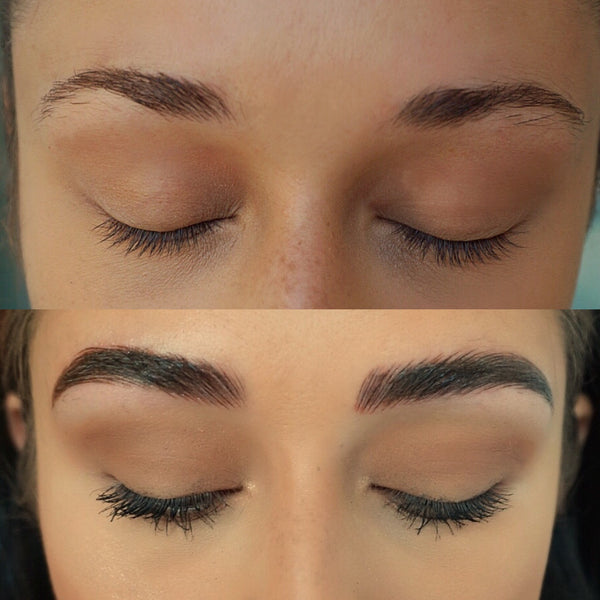Brianna Before and After Microblading Procedure