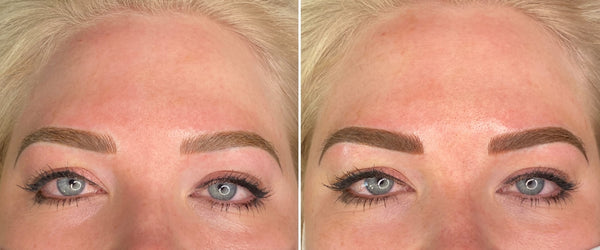 Ashy Brow Colour Correction Case Study Microblading + Shading 2nd Session