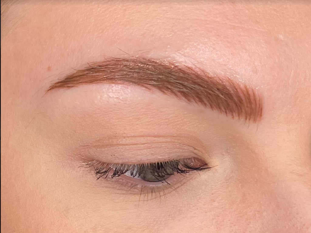 Megan Up Close Day 2 Post Microblading and Microshading Procedure