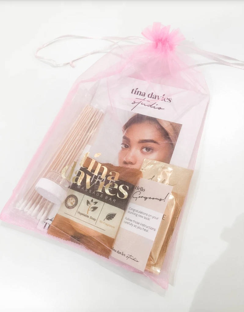 Tina Davies Microblading Aftercare Take Home Goodie Bag