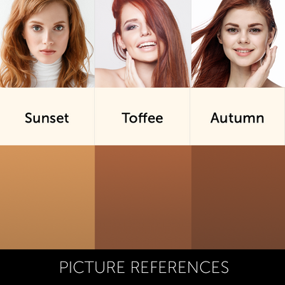 Sunset Pigment Collection Colour Chart