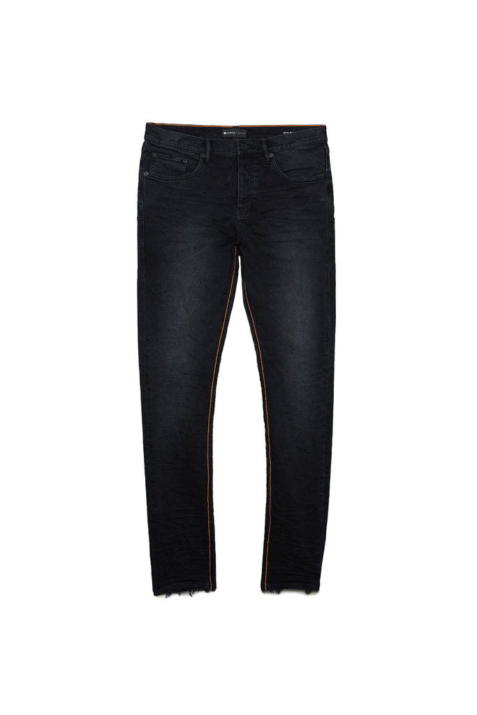 P001 LOW RISE WITH SLIM LEG - Black Wash Reverse Inseam