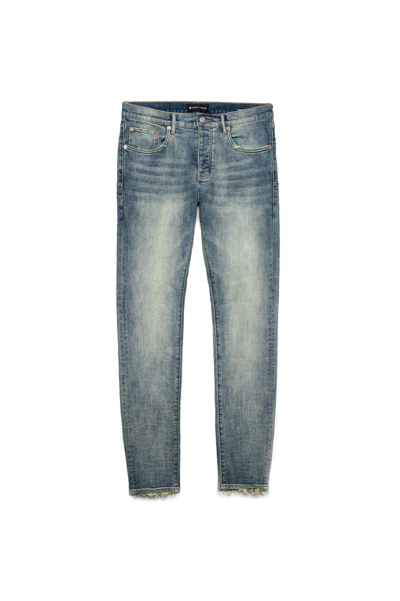 P001 LOW RISE WITH SLIM LEG - Light Indigo