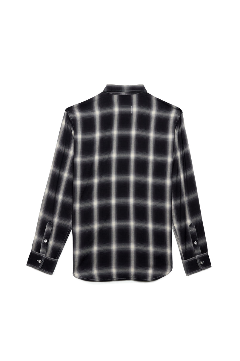 P303 PLAID SHIRT - Reverse Flannel Black
