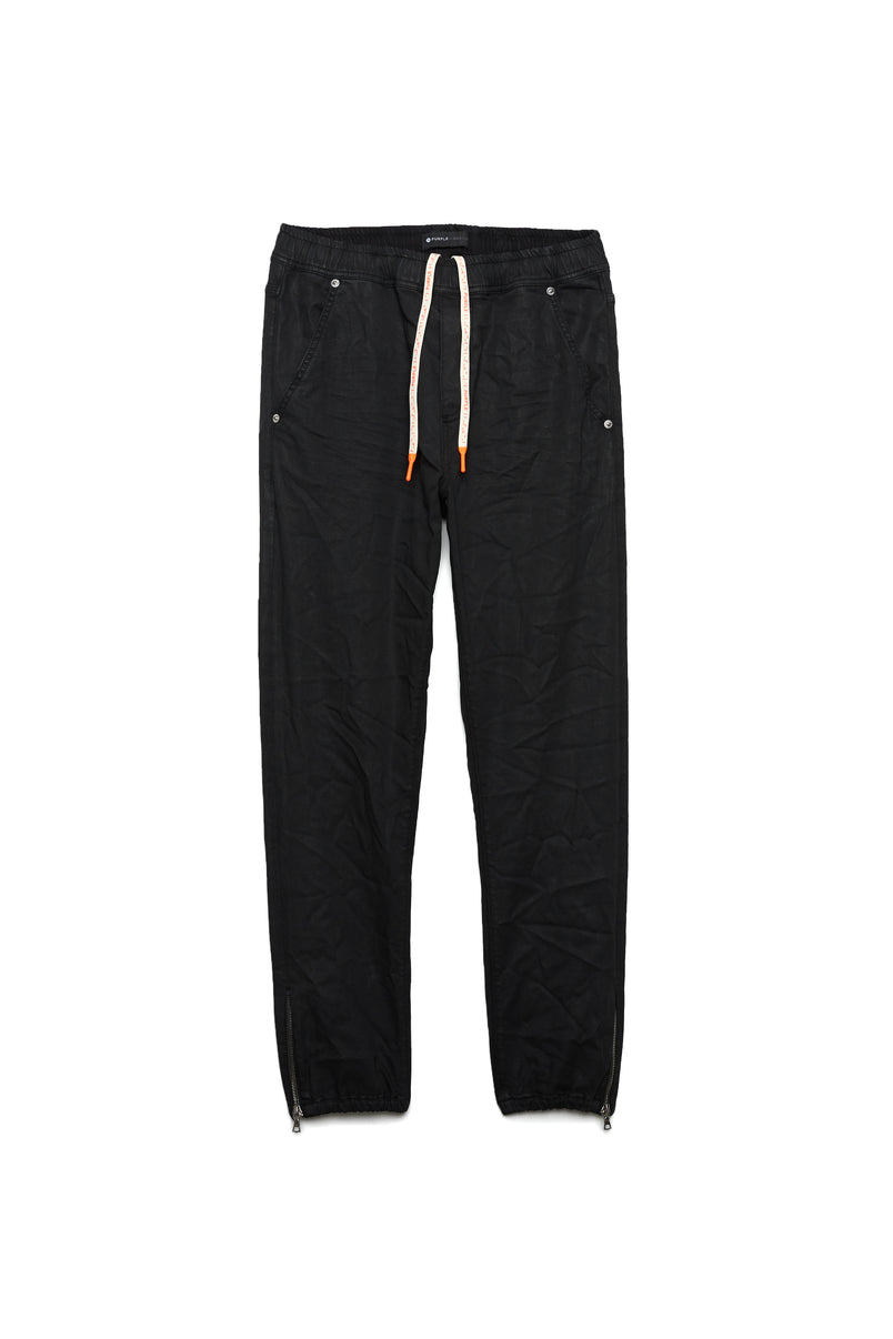 P012 Jogger - Coated Black Wash