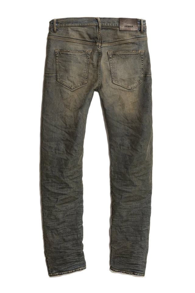 P005 MID RISE WITH STRAIGHT LEG - Grey Over Spray